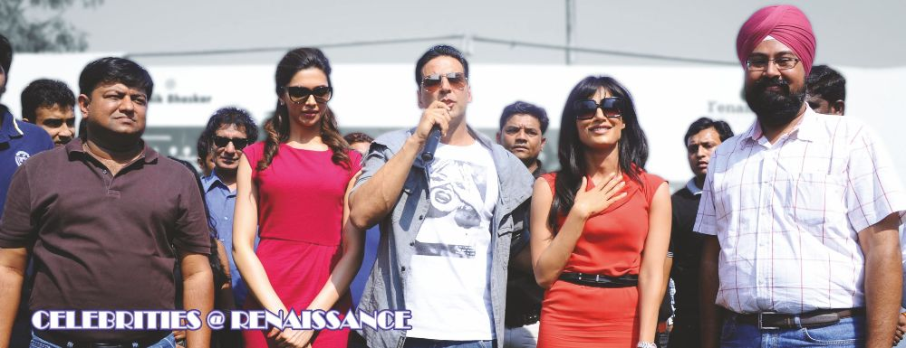 Akshay Kumar, Deepika Padukone and Chitrangada Singh came to the campus for briefing students on fitness and nutrition